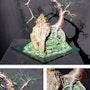 Cascade auf Glas, Draht-tree sculpture. Tree Sculpture By Sal Villano