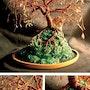 Cuivre île, arbre sculpture métallique. Tree Sculpture By Sal Villano