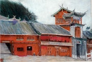 Lijiang - Altes Haus aus Holz (China). Myriam David