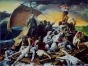 Floß der Medusa von Géricault (Kopie). Jean Claude