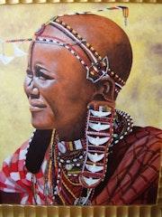Maasai mujer.
