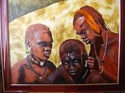 Jóvenes guerreros masai .