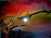 Le violon fou.