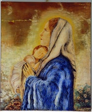 The Virgin and Child.