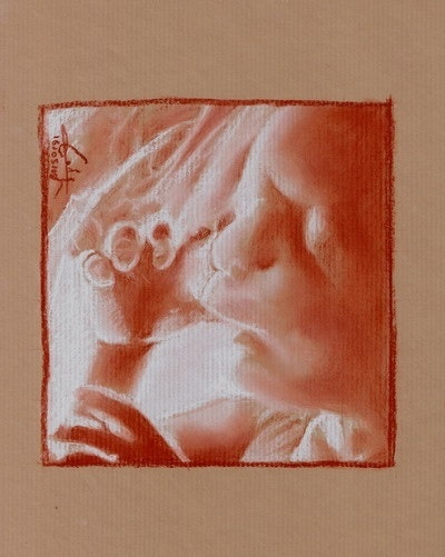 Baby in the womb of its mother 160508. Flohic Philippe Flohic