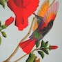 This painting of a Humming bird was painted in acrylic. Brian L Art
