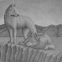 This drawing of Dingo's was done in graphite.. Brian L Art
