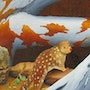 This painting of a Tasmanian Quoll is painted in acrylic. Brian L Art