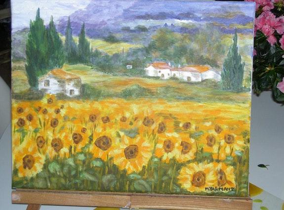 Sunflowers. Diamant Michèle Michele Diamant