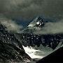 Warnung auf die Aiguille Verte «Mont Blanc». Thibaut Champenois