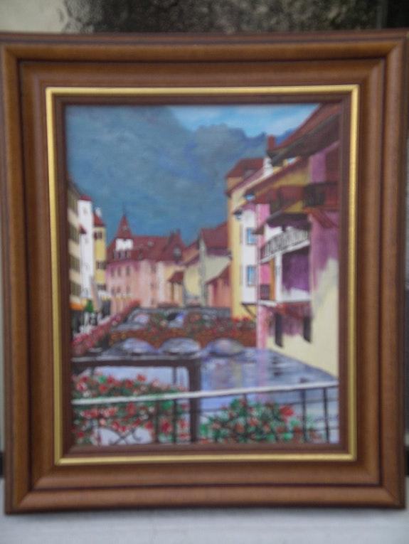 Un rincón de la vieja ciudad de Annecy. Daniel Brunat Artiste Peintre Amateur