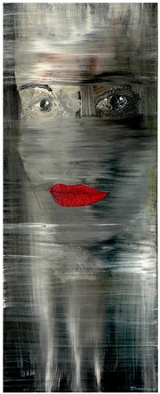 The lips of the woman.