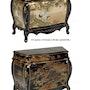 Comoda Blattgold lackiert im Stil Louis XV handgezeichneten Eastern. Boyd Baten