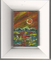 Sunset in the Canary Islands. Richi :Matches Boxes Art Gallery Collection