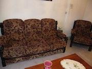 Canapé convertible et deux fauteuils. Patrick Coulon