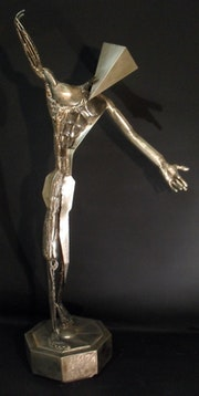 Evolution steel sculpture.