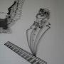 Portrait caricaturale de Ray Charles. Jo Soussan