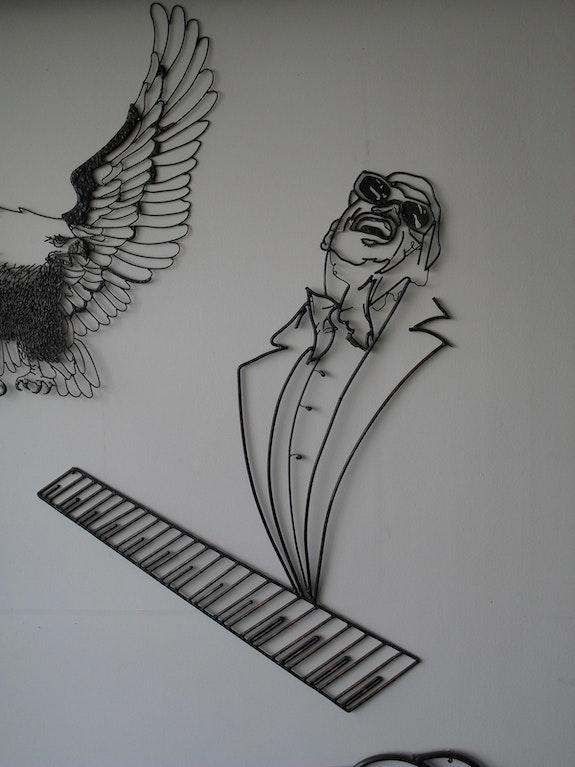 Portrait caricaturale de Ray Charles. Jo Soussan Jo Soussan