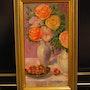 Vase mit Blumen. Rafael Del Santo