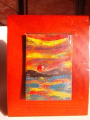 Red Sun on the Islands. Richi :Matches Boxes Art Gallery Collection