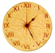 Provence engraved clock.