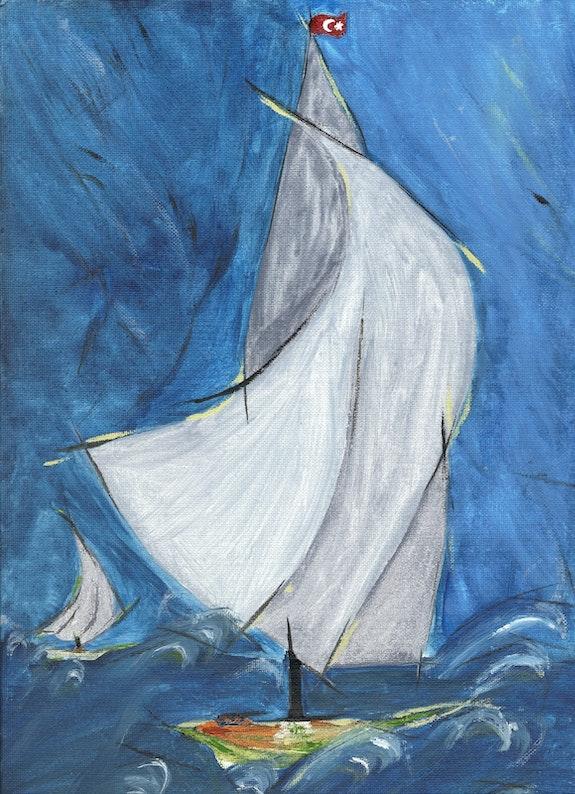 'Vent dans les voiles à Nabeul'. Nicole Virtue Nicole Virtue ©