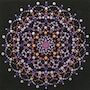 Mandala Meditation - Purple/Orange. Sherri Booth/ Roesberg