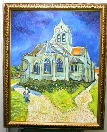 Verkauft Reproduktion Ölgemälde, «Kirche Auvers sur Oise Van Gogh. Valérie Florent Florent V.
