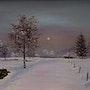 Paysage d'hiver. Jean Claude