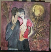 Lovers in the moonlight. Jeannine Guillaume/ Cot Drouot