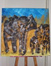 Eléphant d'Afrique. John Ausman