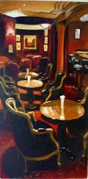 The bar at the Westin Paris.