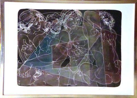 Hans Erni, Schweizer Künstler, 3 Originallitografien mit Originalunterschrift. René Müller Swissmagic