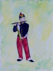 De L'Enfant de Troupe - Copia de El Flautista de Edouart Manet (1866). Frédéric Vincent