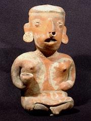 Art precolombien, femme au vase, nayarit mexique proto-classique i° -3°. Catherine Berney-Queffard