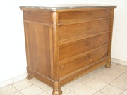 Antique dresser with 4 drawers. Pierre-Marie Gimet