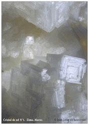 The fall of sodom. Crystal salt. Zima, morocco. 1990.