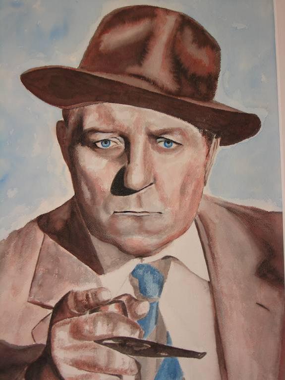 Portrait of Jean Gabin. B. Sannier Bernard Sannier