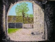 Casa Con Sorans-la Breurey-- 70 - óleo sobre lienzo (80x60).