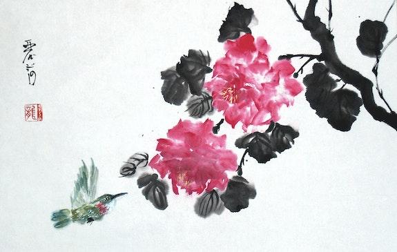 Hummingbird y Rosas. Lisa Chakrabarti Lisa Chakrabarti, Fine Artist