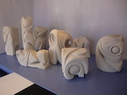 Eight sculptures….