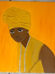 Portrait of African woman .