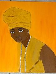 Porträt der afrikanischen Frau .