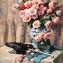 Stilleben mit roten Rosen. Boon Gallery