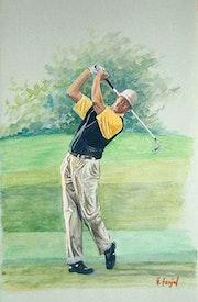 Golfeur en action. Henri Fanjul