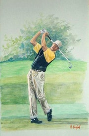 Golfer in Aktion. Henri Fanjul