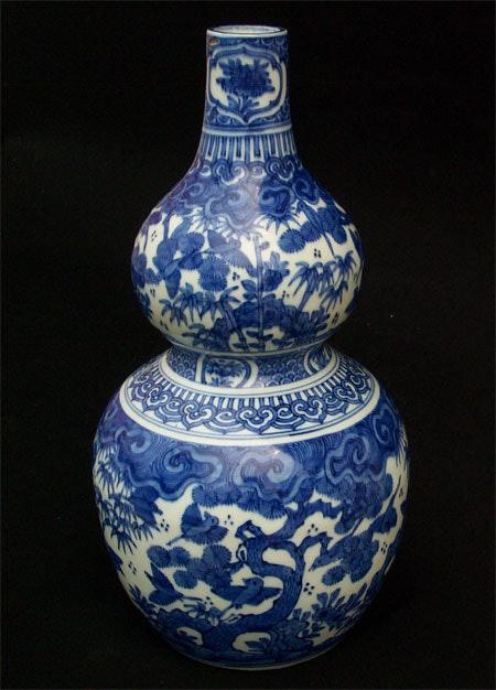 Ming Dynasty Wanli Double Gourd Vase.  Dream Art Gallery