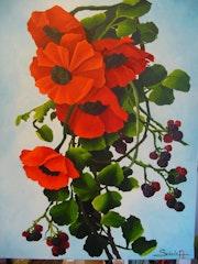 «Poppies and Blackberries».