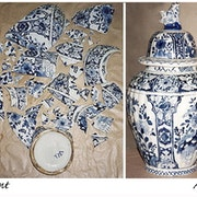 Vase in a thousand pieces: Before... after. Catherine Burgues