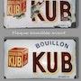 Plaque en émail «Bouillon Kub». Catherine Burgues